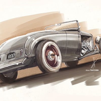 Alexis taccoen hot rod sketch2