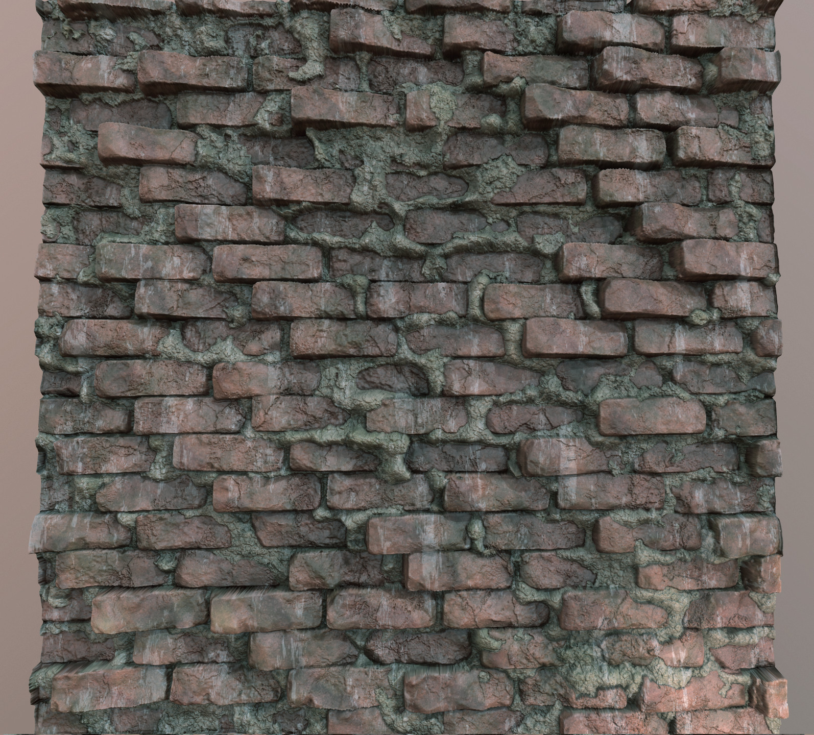 Z-Sculpted Bricks - Red