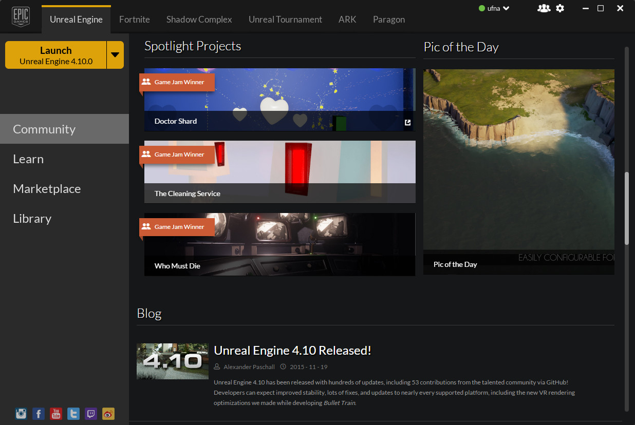 "VaOceanMobile was highlighted by Epic Games as ""Pic of the Day""!"