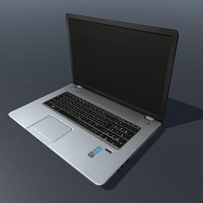 Dennis haupt large hp notebook low poly 3d model fbx dxf obj blend dae mtl unitypackage 2a89e8ed 52ff 433e a11f 23ac9610bafb
