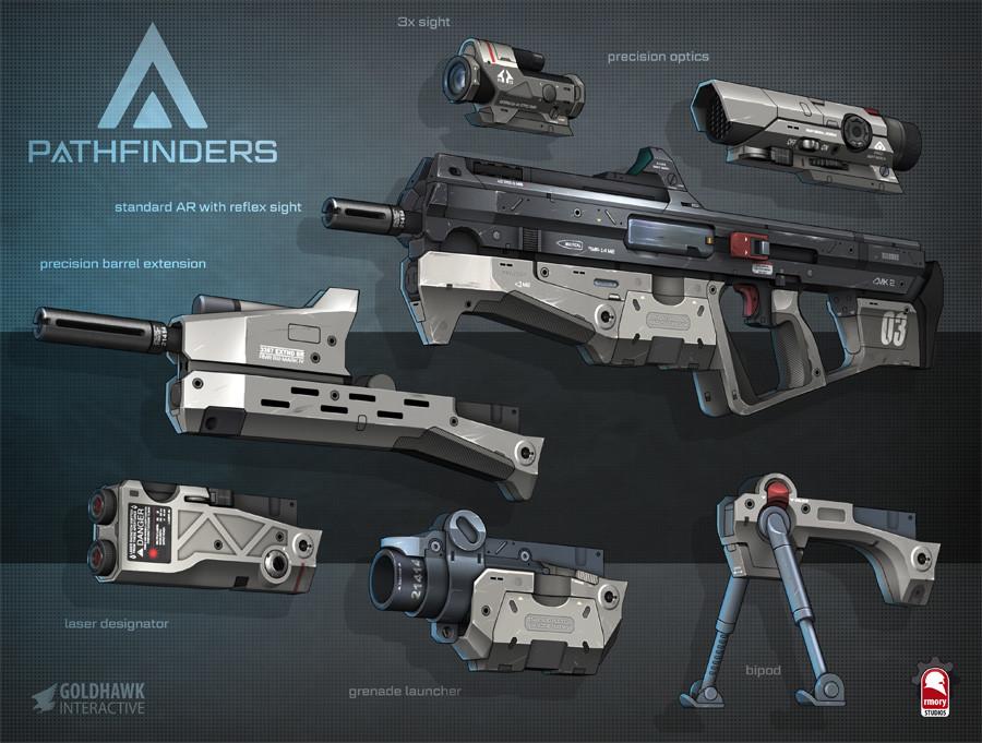 pathfinders assault rifle - rmory studios