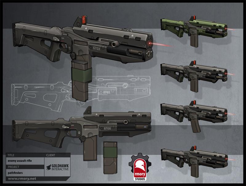 pathfinders enemy assault rifle - rmory studios