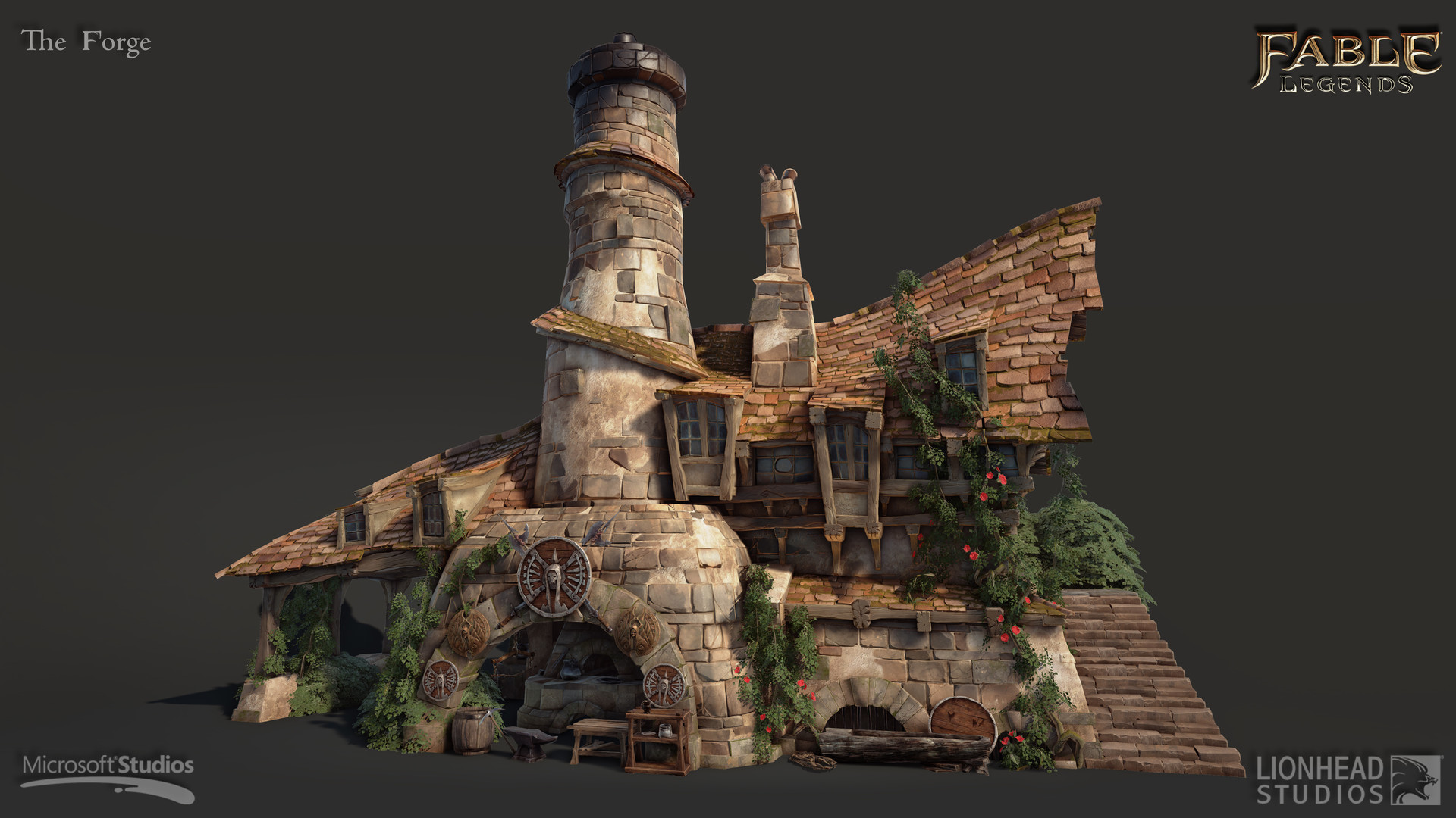 Forge Was One Of The First Buildings I Have Created In Brightlodge, (some  Of The Small Props Where Created By Other Artists)