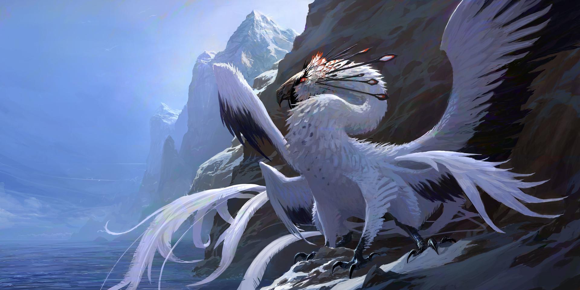 artstation white dragon brett macdonald