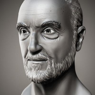 Christopher Lee - Bust Sculpt