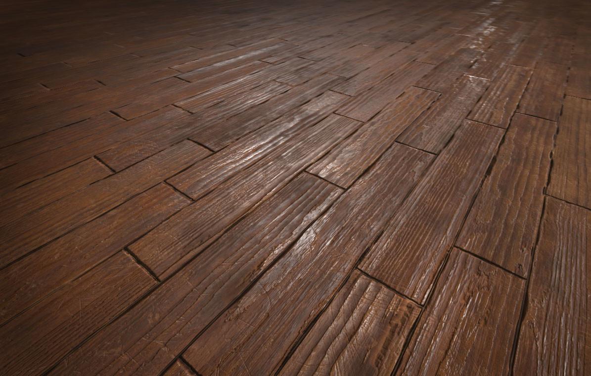Procedural Damaged Wood Flooring