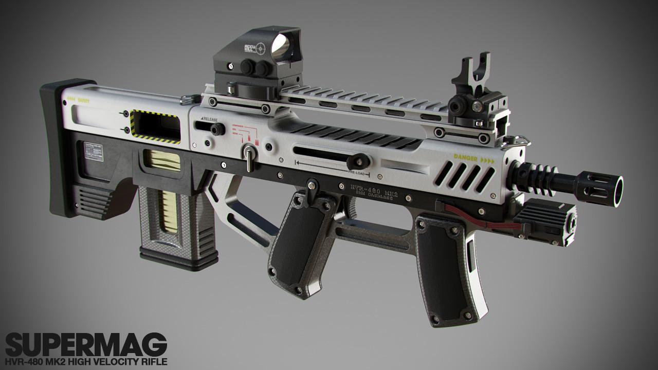 artstation assault rifle concept piers coe