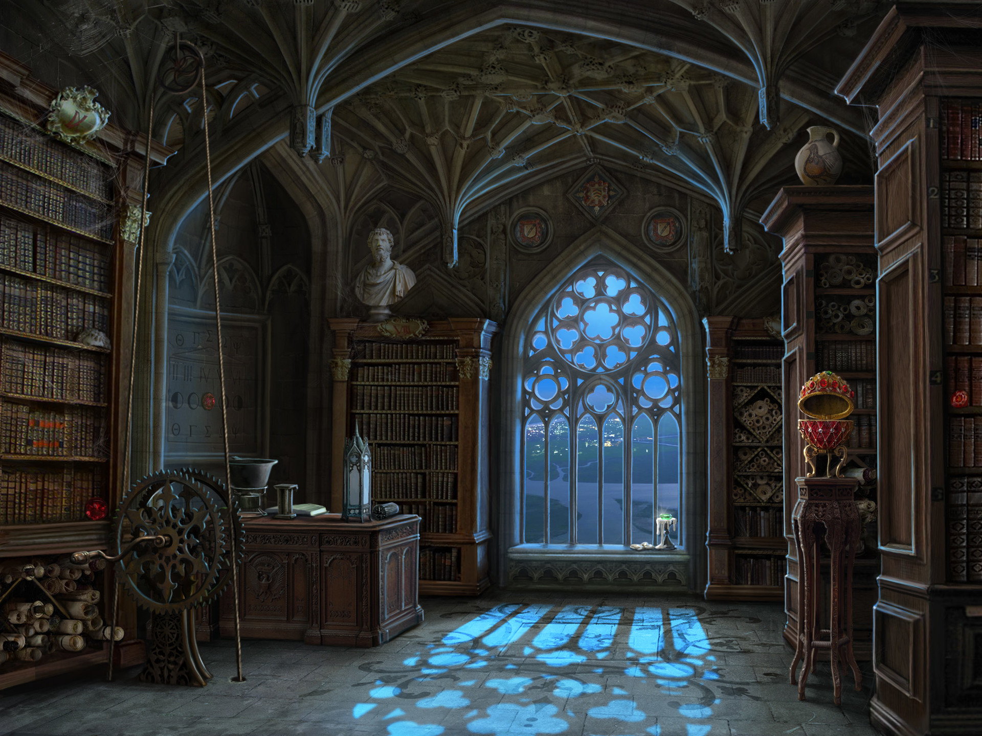 Gothic Bedroom Ideas Artstation Library Background And Miniscenes For Quot Curse