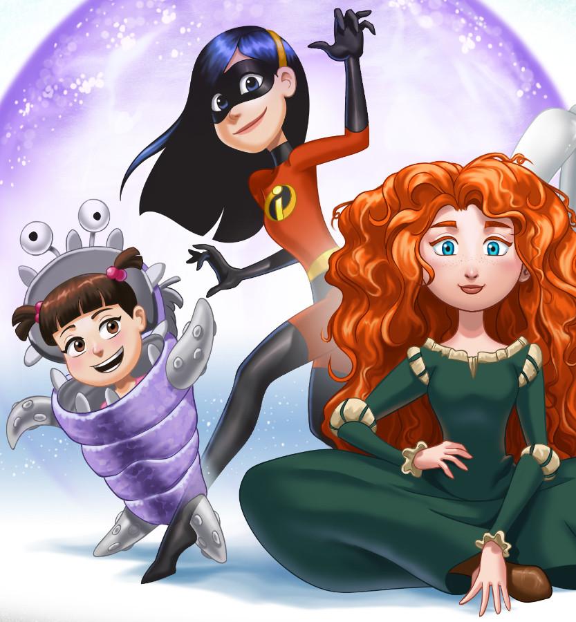 Paulo peres pperes pixar girls detail1