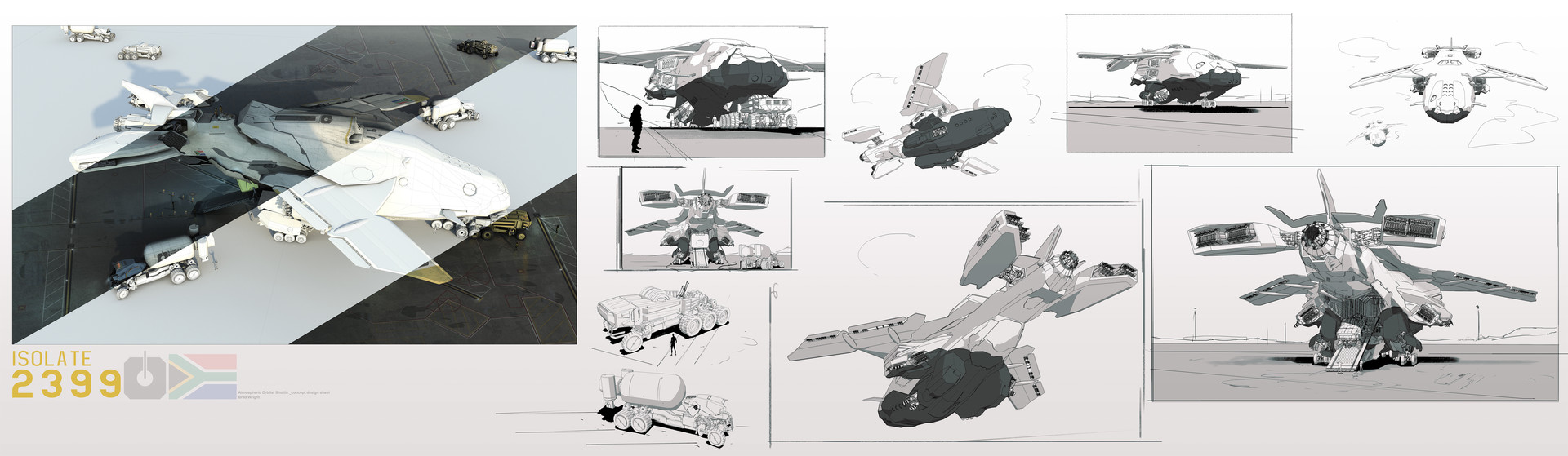 Brad wright shuttle main concept design sheet