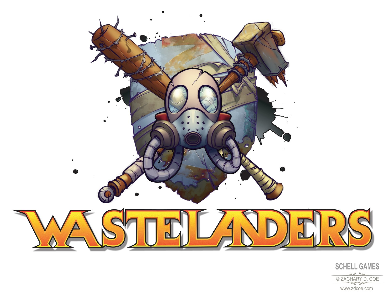 WASTELANDERS LOGO Stacked Final by Zachary D. Coe