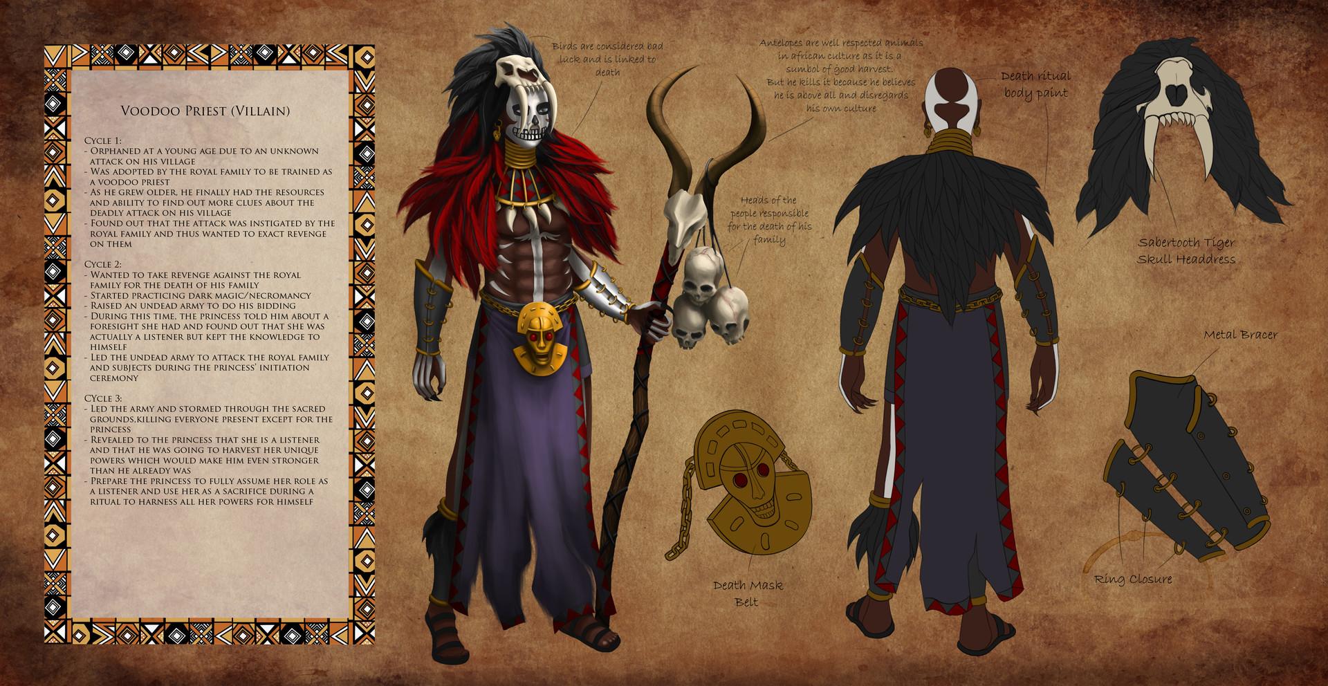 ArtStation - Voodoo priest voodoo concept, Sophia Eng