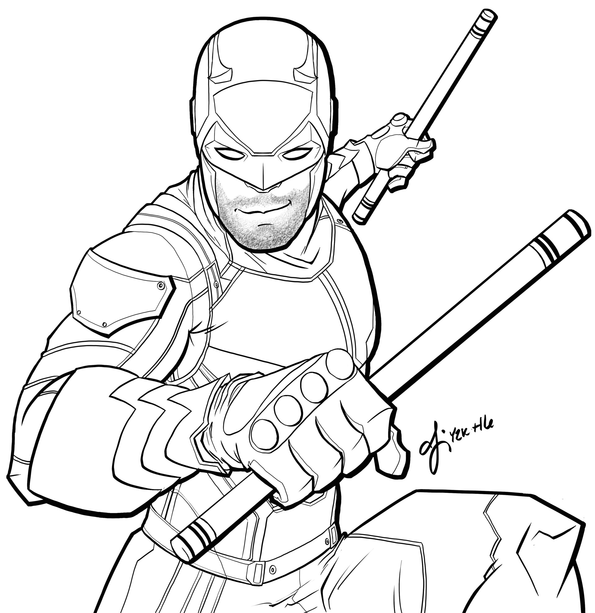 Dare Devil Coloring Pages - Learny Kids