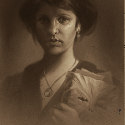 Magda proski autoportrait with necronomicon