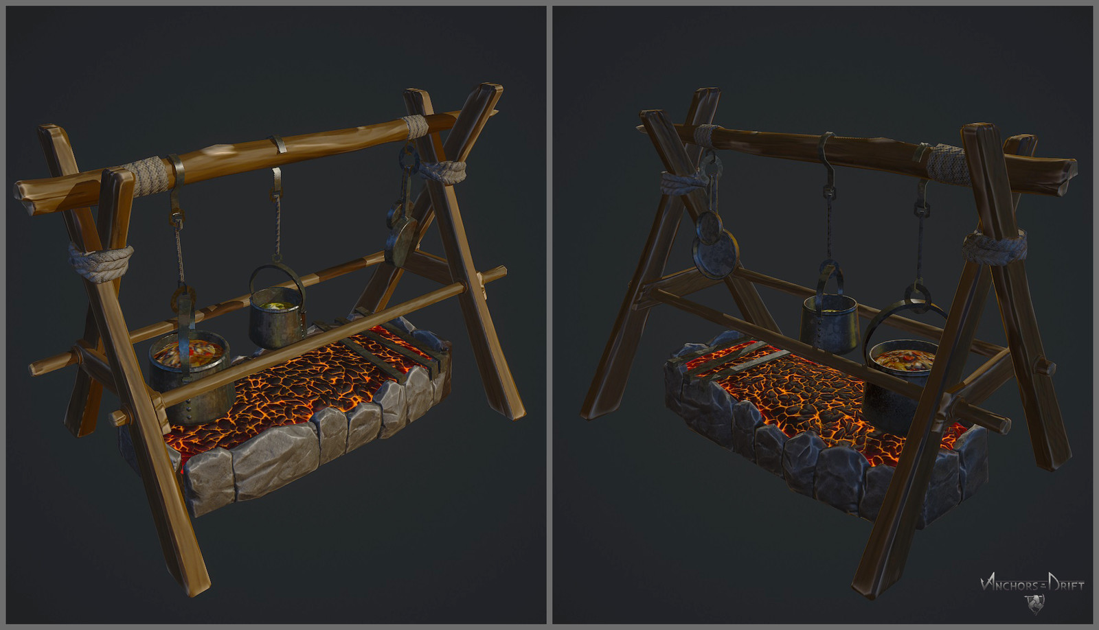 Cooking Pit low poly