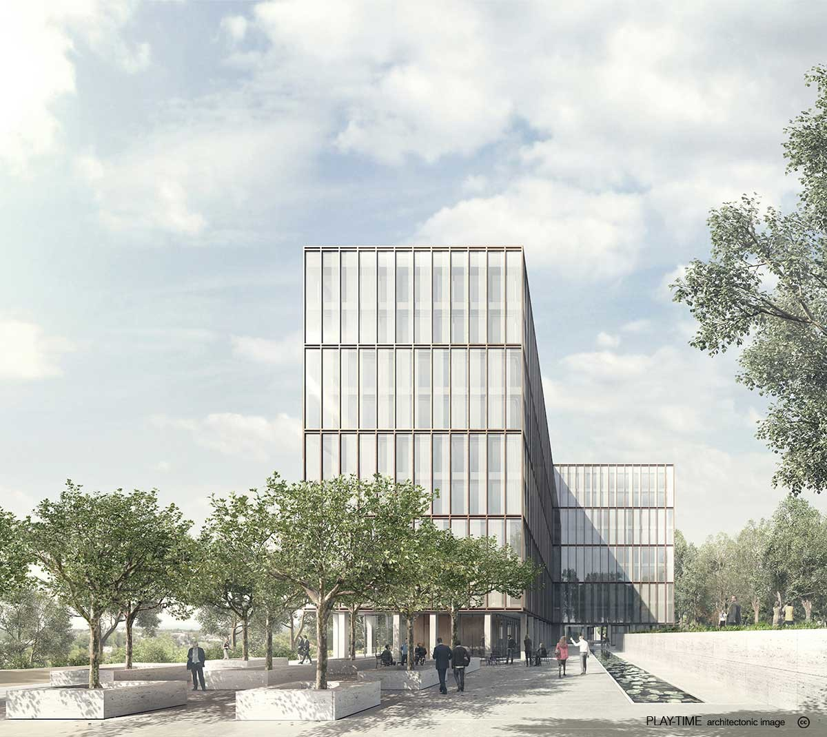 Play time architectonic image gwj architektur office building in bern 1st prize 01