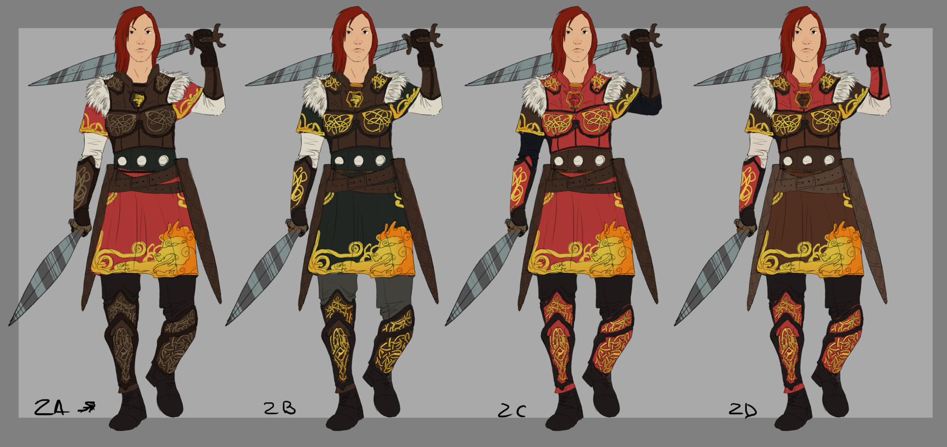 Irina kovalova warrior sketches 02
