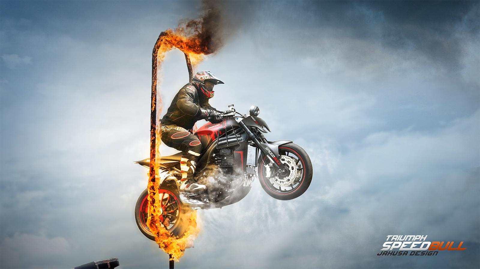 Tamas jakus triumph speedbull stunt fire kesz