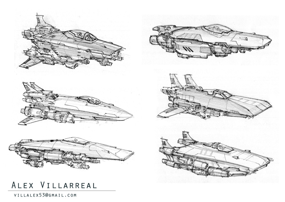 amazoncom blast spaceship sketches and renderings - 1000×708