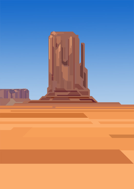 Olivier le borgne monument valley by brookhood d61f9eb