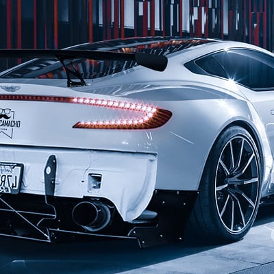 Andre camacho design aston martin one 77 white rear view 101435 1920x1200