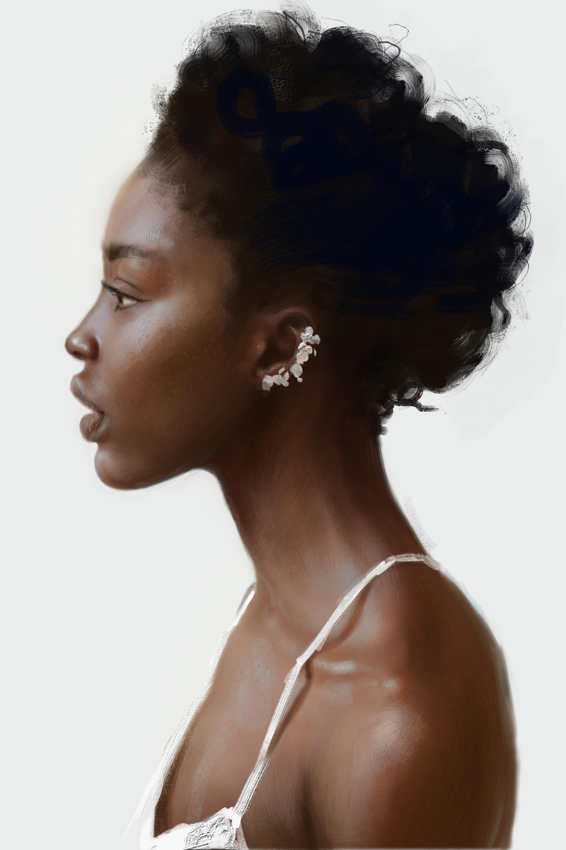 Sergey vasnev girl portrait study
