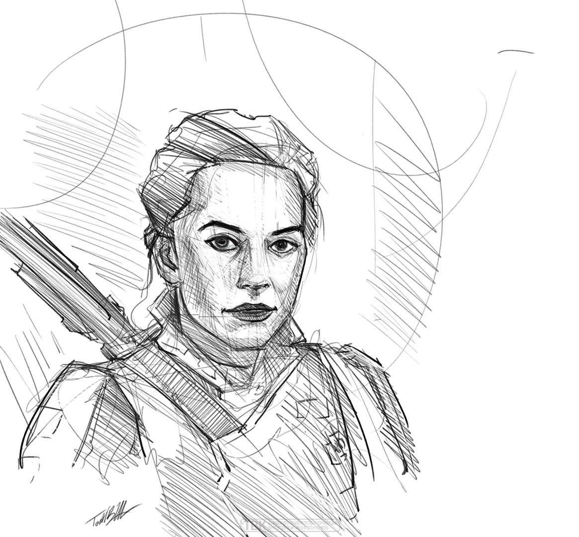 Rey — pencil sketch