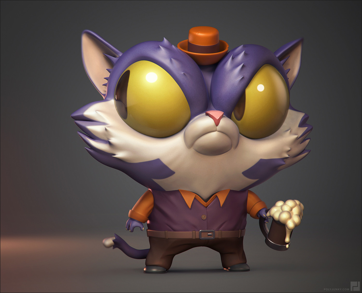 Cat in a hat. Old Keyshot render