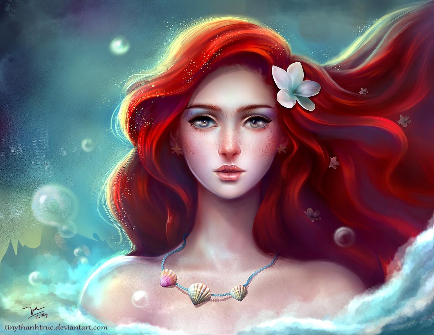 ArtStation - Fan art Ariel [The little mermaid], TiNy Truc