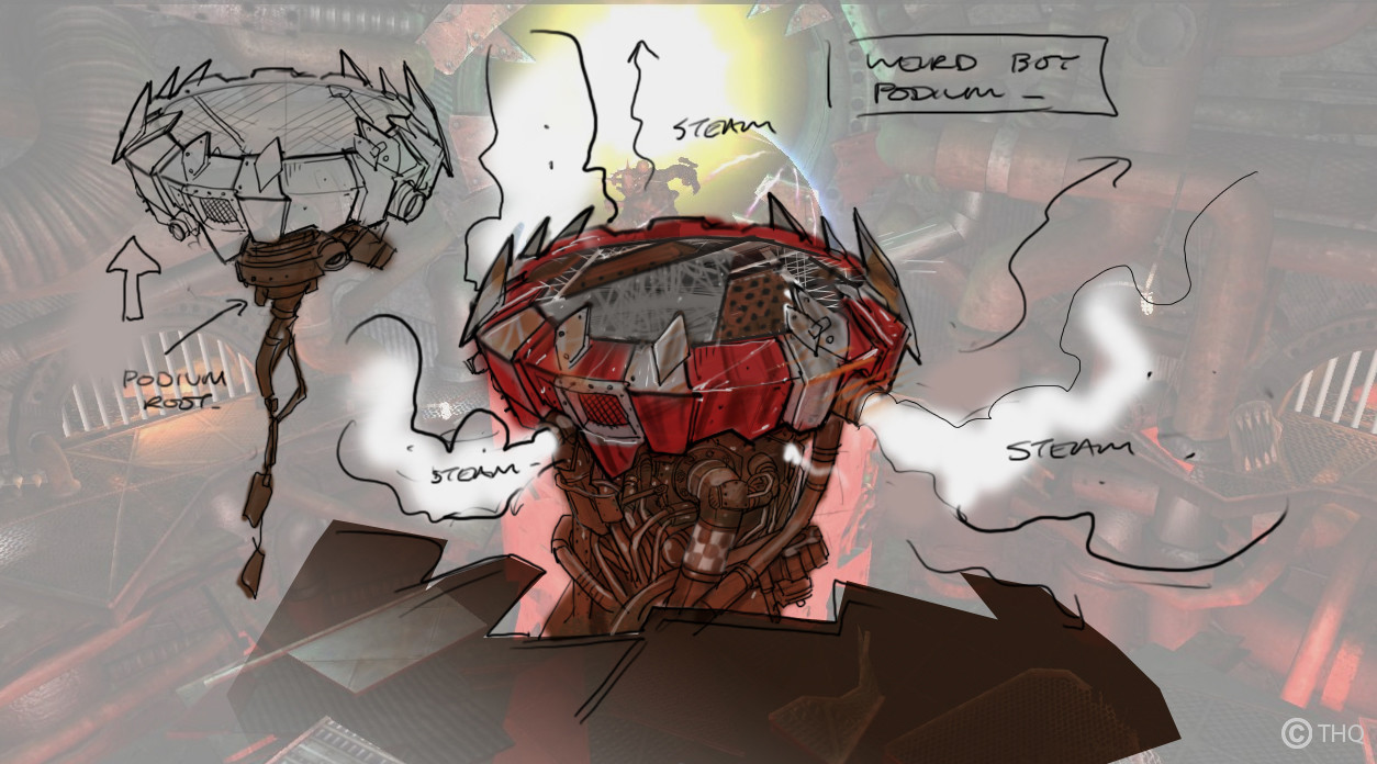 Weirdboy_Podium Concept provided by concept artist.