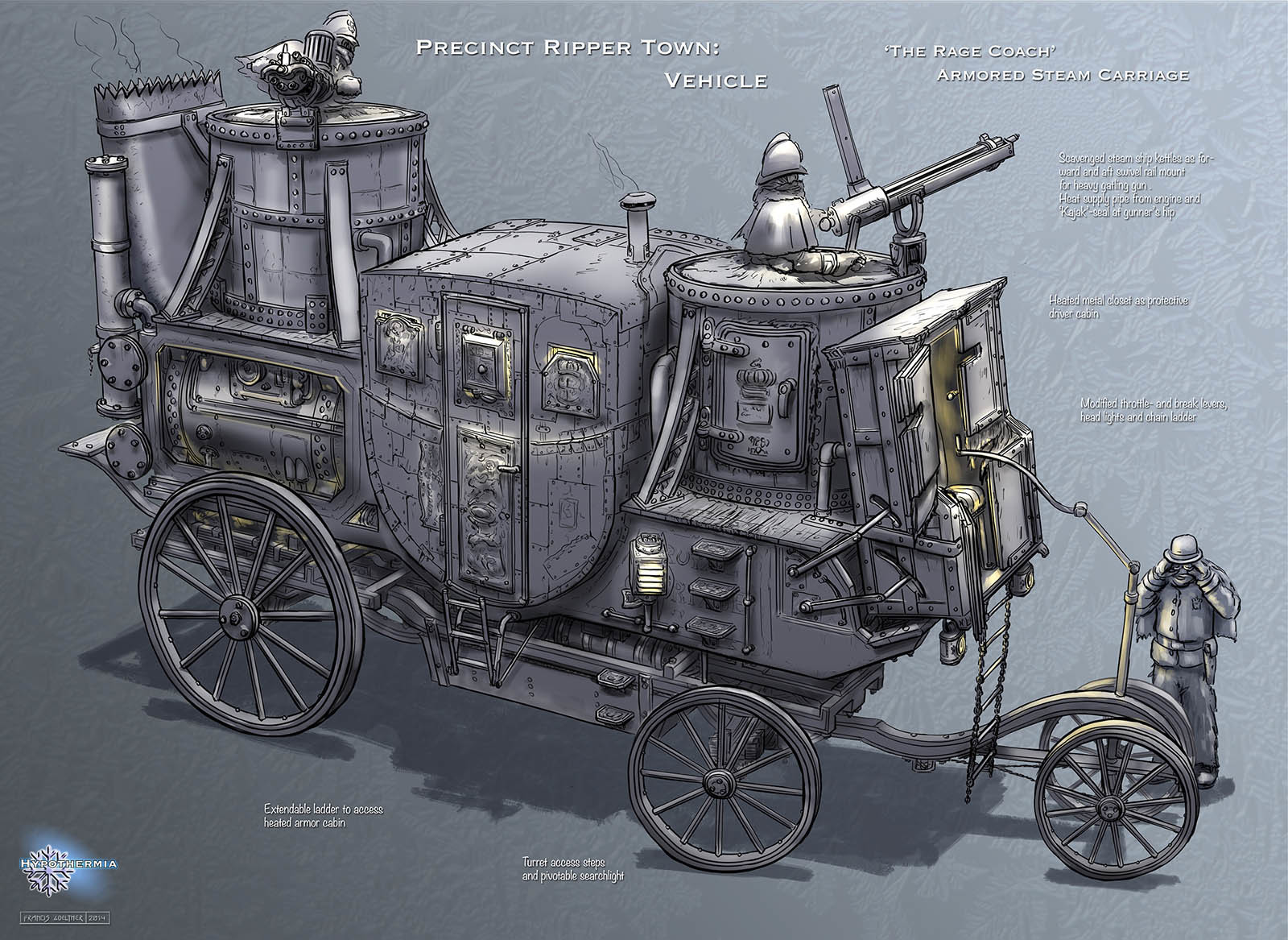 Precinct Ripper Town – Armored Steam Carriage