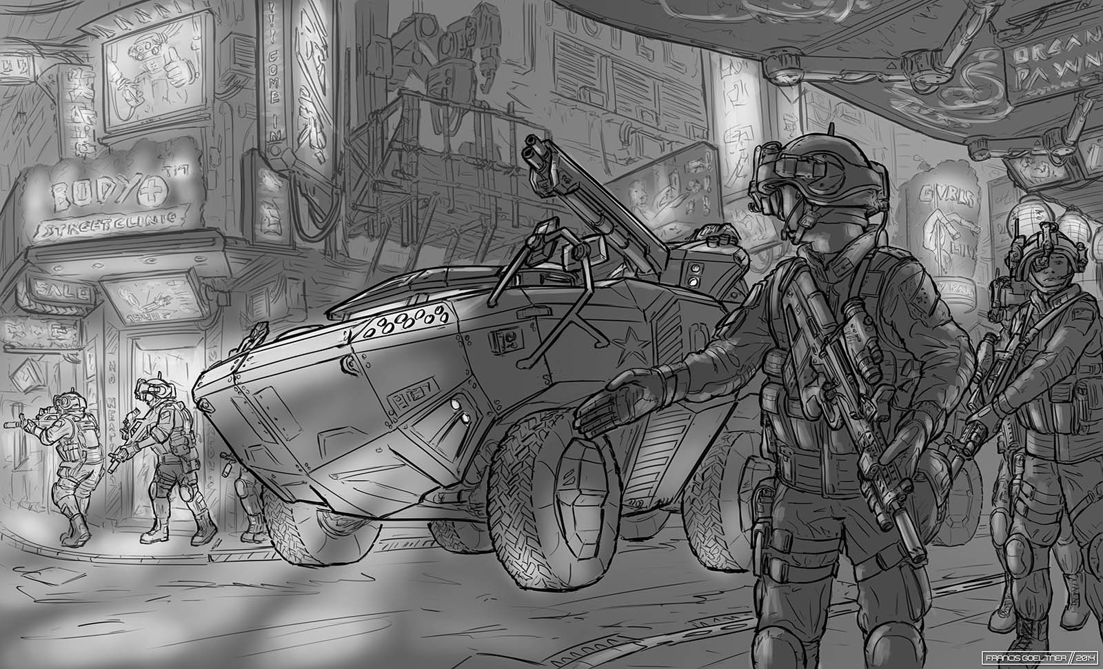 Preparation Sketch - Futuristic