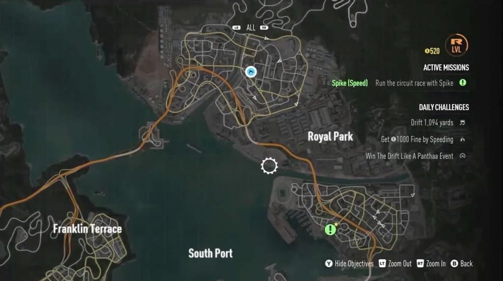 Map navigation.