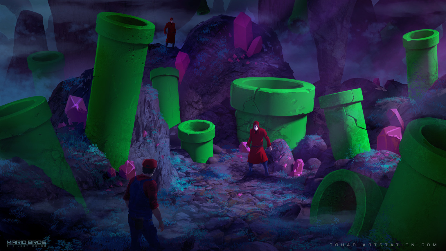 Mario Bros : The Lost World, Crystal Cave environment concept