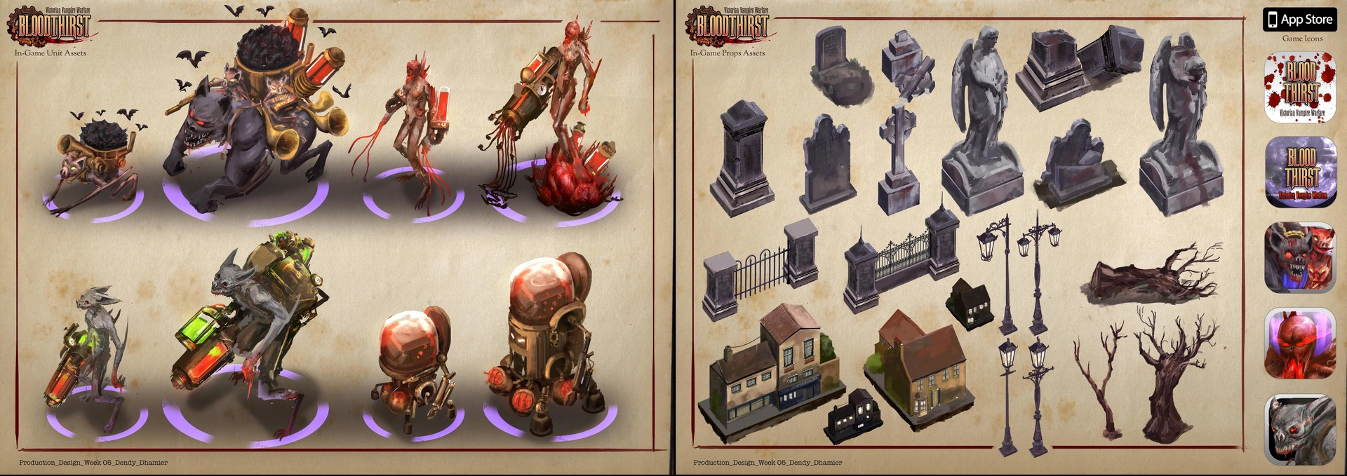 In-Game assets, props and icon design.