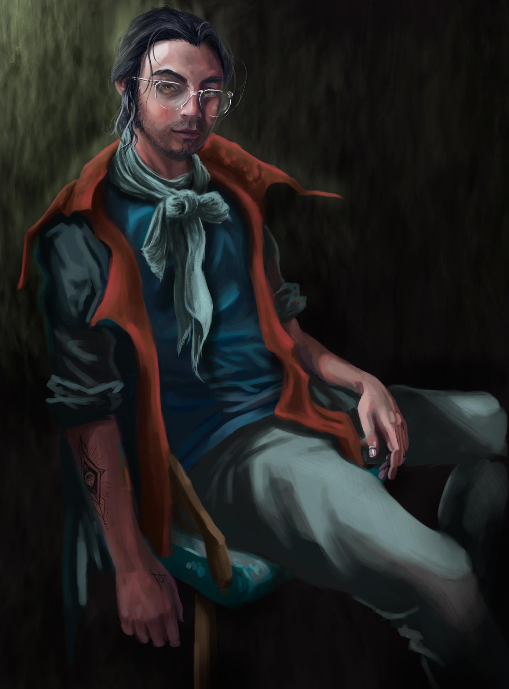 Marcos mansur selfportrait