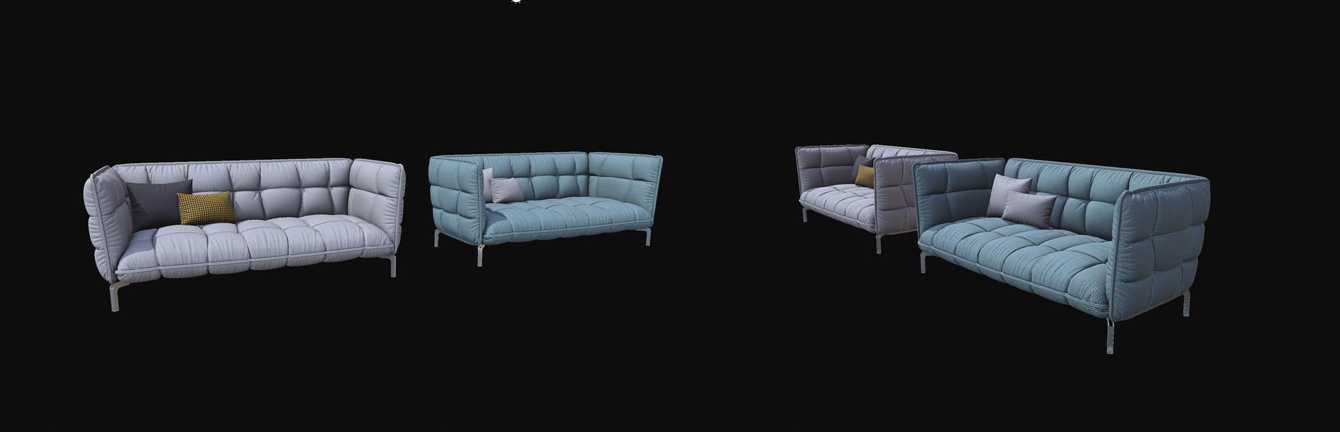 HUSK sofa B&B Italia 225 [low]