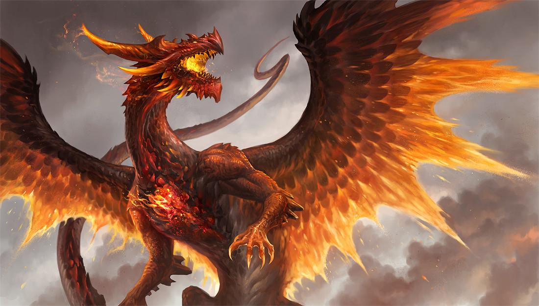 ArtStation - Red Crystal Dragon, Sandara Tang