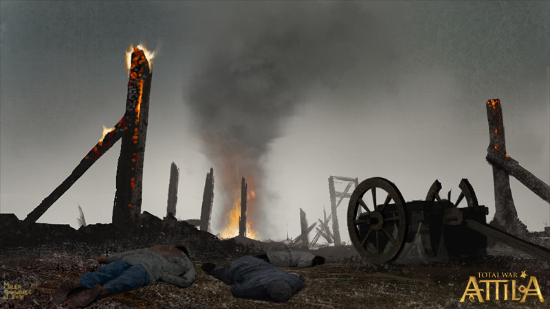 Milek jakubiec settlement raze with fire