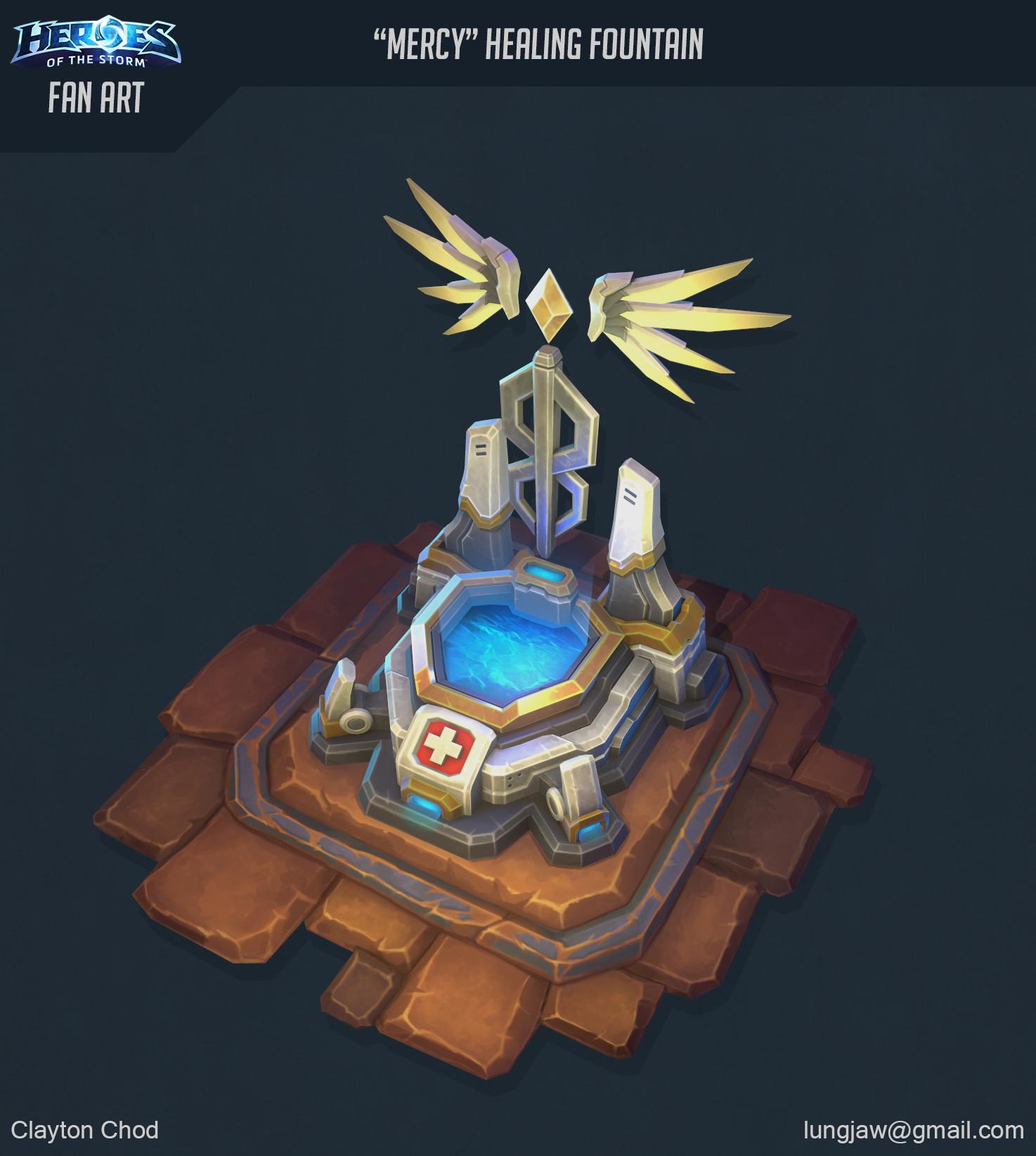 ArtStation - Mercy Healing Fountain: Overwatch + HotS Fan