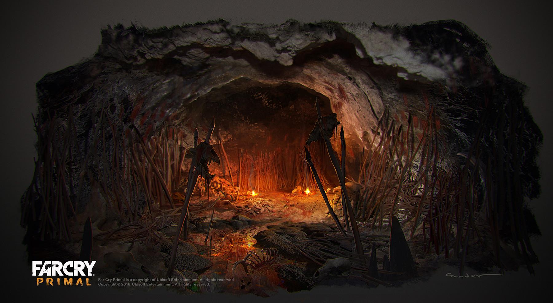Artstation Udam Weaponry Cave Michael Gunder