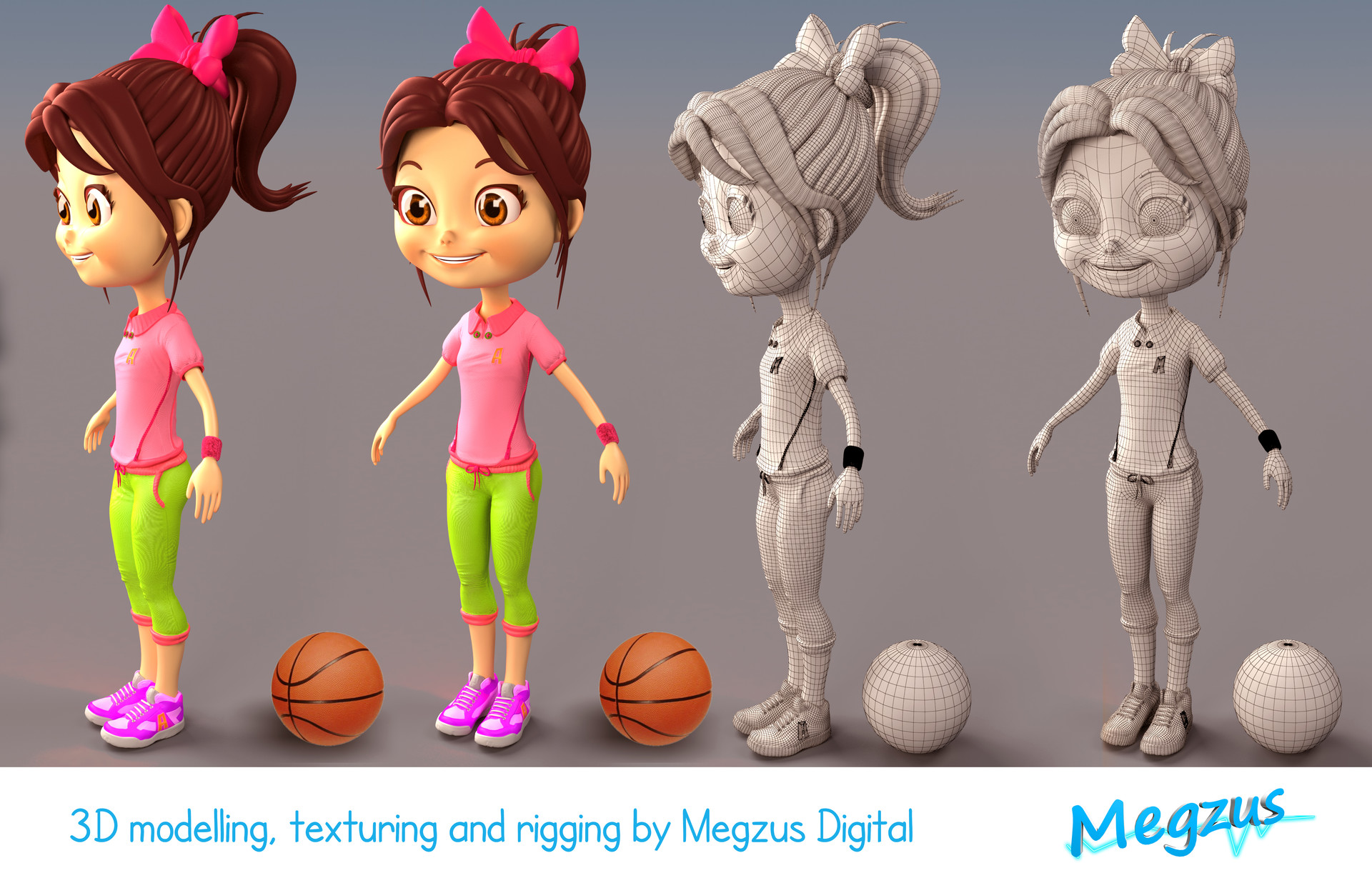 artstation 3d character for kids product branding megzus
