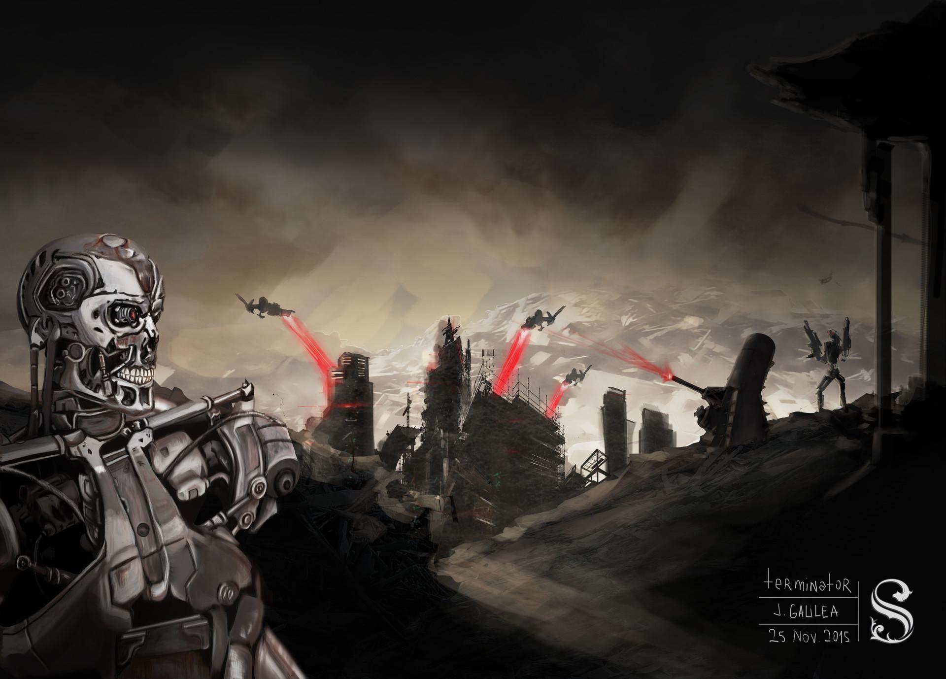 Artstation Terminator Fan Art John Galilea