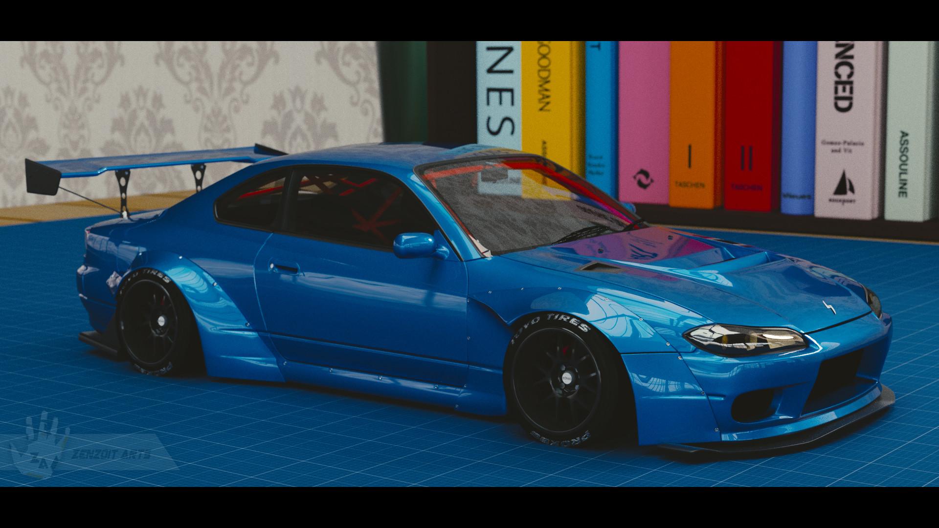 ArtStation - Nissan Silvia S15 Custom Rocket Bunny, Zenzoit Arts