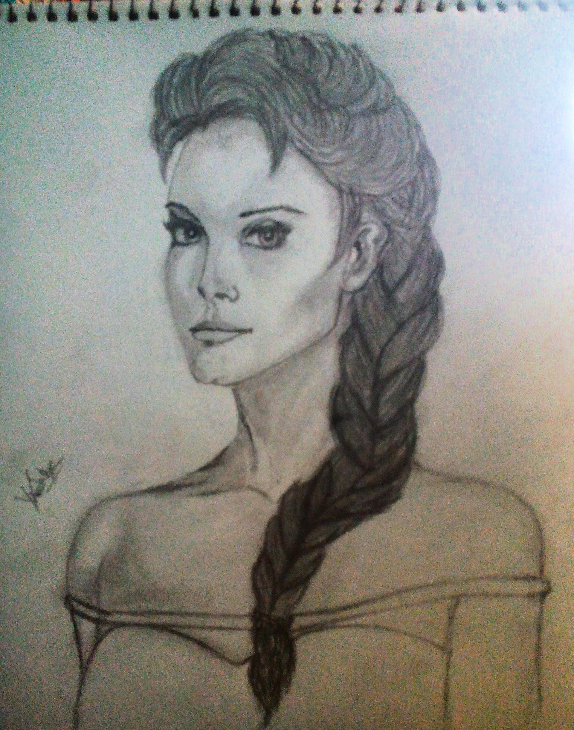 Vishal solanki beautiful girl pencil sketch