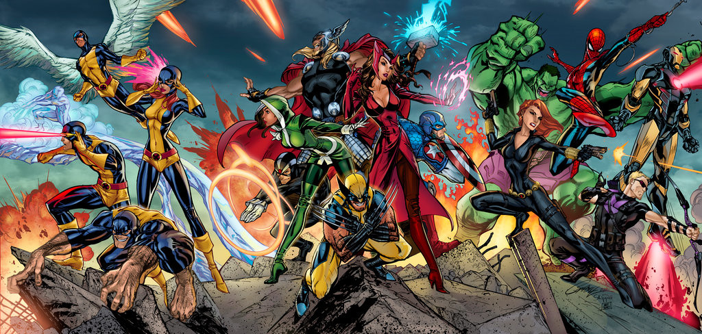 Matt james avengers x men triptych by mattjamescomicarts d9yddio