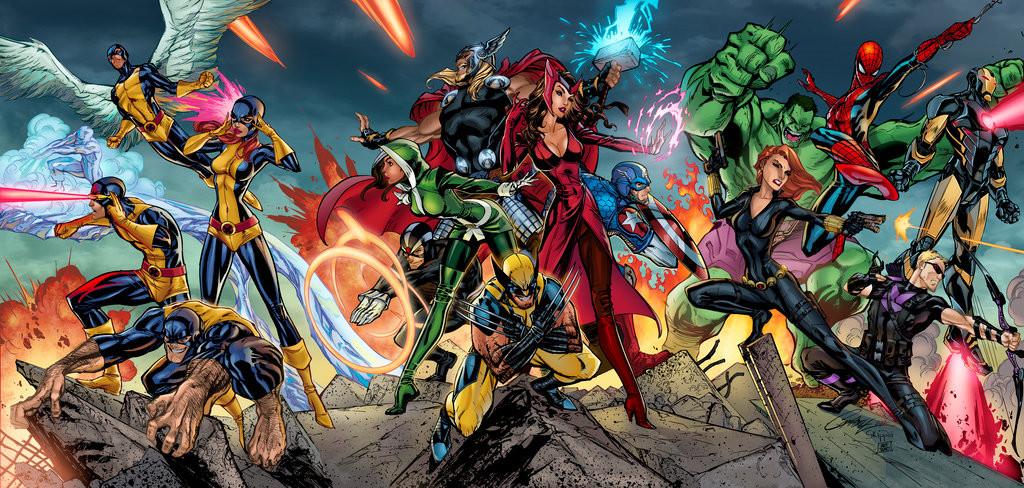 X-Men/Avengers Triptych