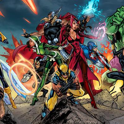 Matt james avengers x men triptych by mattjamescomicarts d9yddio