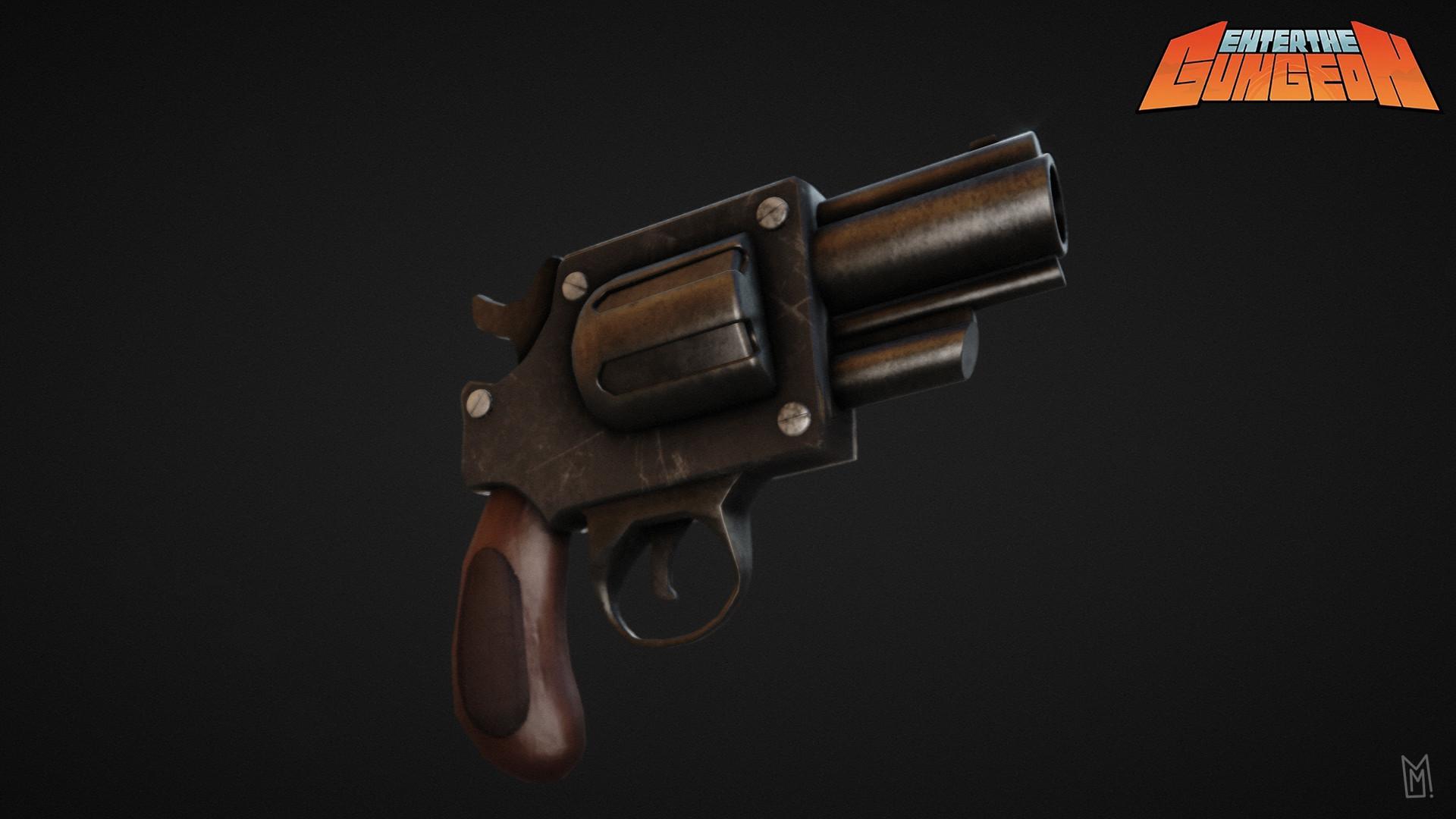 ArtStation - Enter the gungeon Gun, Matthieu Mahy