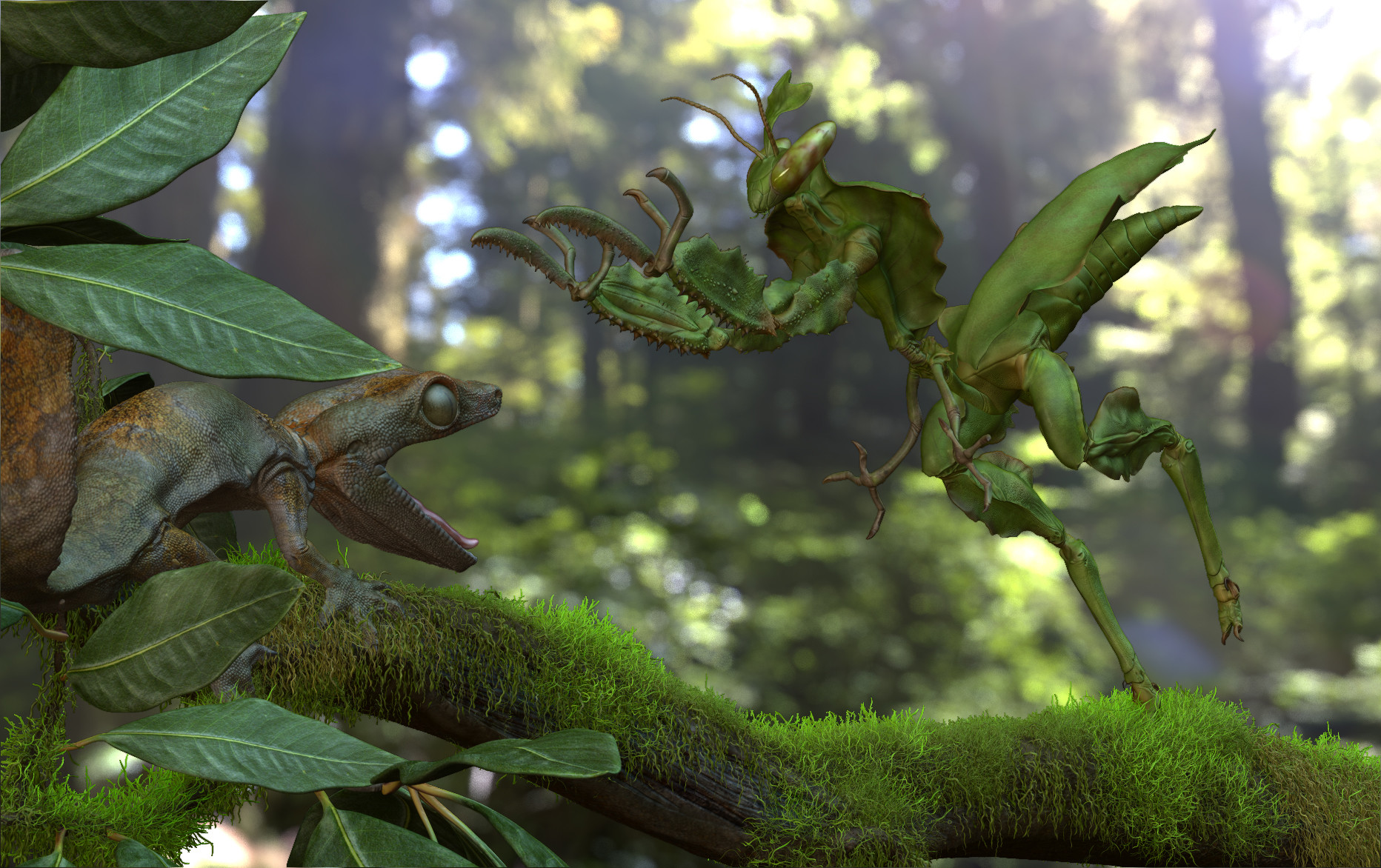 Raptor Mantis Attack